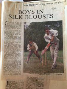 Cricket 6 Boys in Silk Blouses - Birr Castle